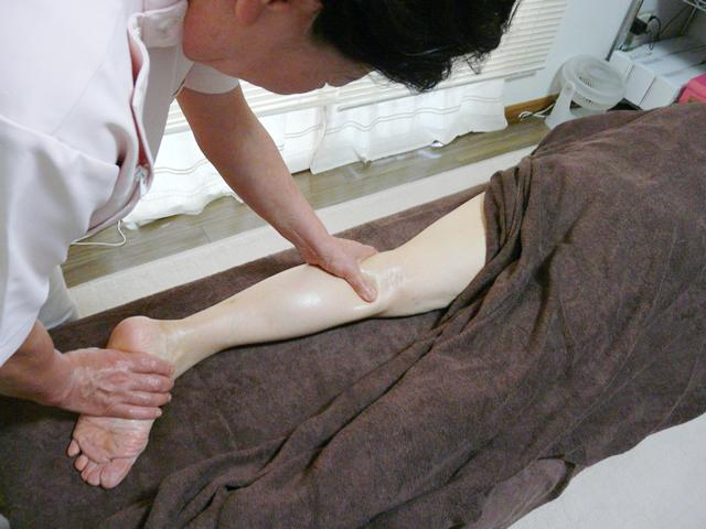 足の筋膜はがし